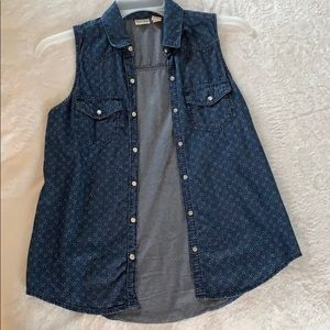 Mudd Button-Up Tank Top